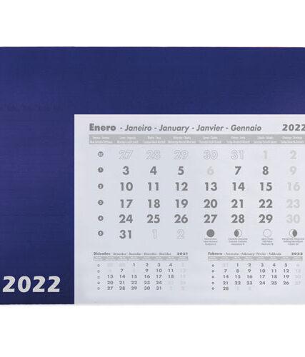 Alfombrilla calendario 2022 azul