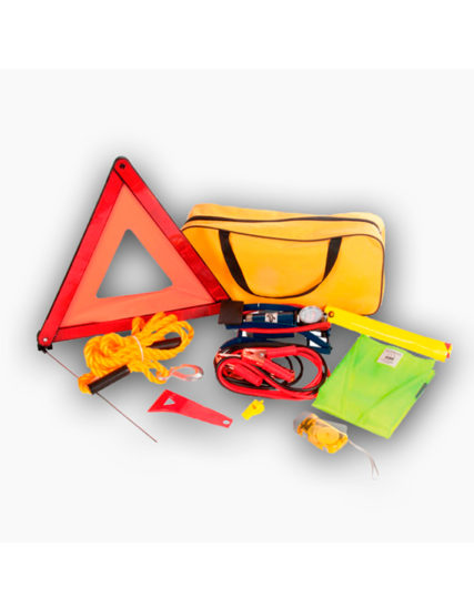 kit de emergencia, kit de emergencia personalizable, kit seguridad vial, kit triángulos avería,