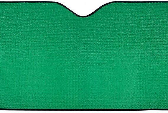 parasol coche fondo verde